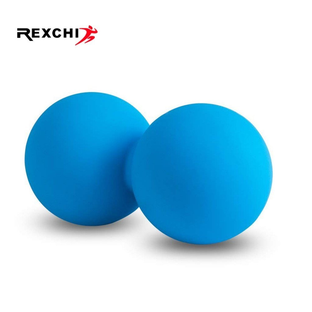 REXCHI Yoga Pilates Ball Peanut Gym Fitness Balance Ball Silicone Massage Crossfit Bodybulding Exercise Training Accessories
