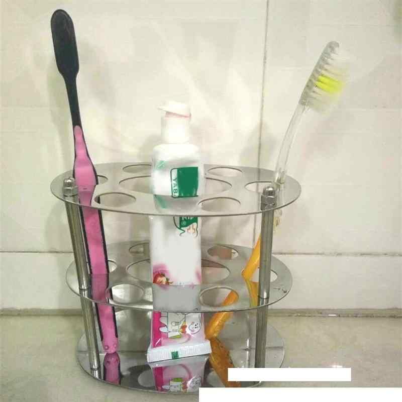Pasta do zębów ze stali nierdzewnej do montażu na ścianie szczoteczki do zębów szczotka do zębów stojak uchwyt do łazienki posiada jeden pasty do zębów i sześć zębów szczoteczki do
