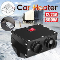12V/24V 600W Car Fan Heater Winter Heating Warmer Defroster Demister Windscreen Instant Heating for RV Motorhome Trailer Truck