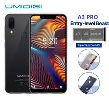UMIDIGI A3 Pro Глобальный Band 5,7 «19:9 весь смартфон 3 GB + 32 GB Quad core Android 8,1 12MP + 5MP Face Unlock двойной 4G В наличии
