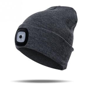 Image 5 - Lumière LED chapeau chaud tricoté chapeau en plein air pêche en cours dexécution bonnet chapeau automne hiver Flash phare Camping escalade casquettes #08
