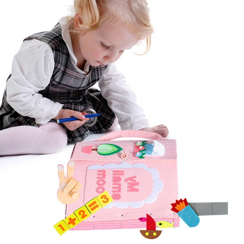 Infant Cloth Book Early Cognitive Development My First Books Soft Baby Goodnight Educational Unfolding DIY Activity Books