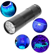 Hunting 4.5V 9LED UV Flashlight Mini Expert Jade Torch 365-400nm for Fluorescence Detection flashlight 18650