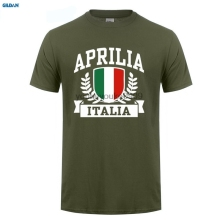 GILDAN  T-Shirt 2017 Fashion Men Design aprilia italia Summer New Cotton T Shirt O-Neck Tee