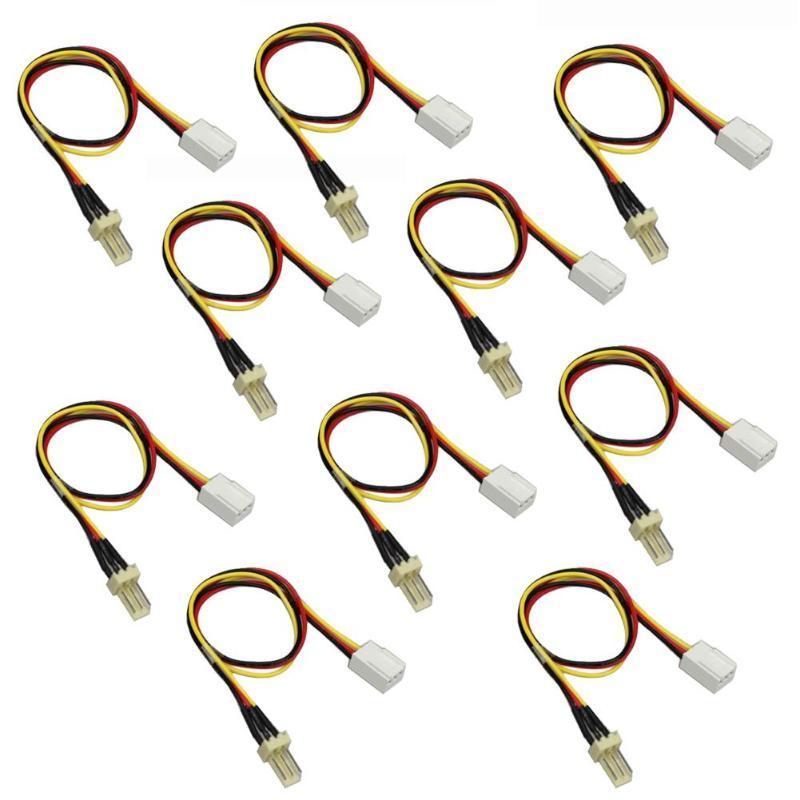 10 шт./лот Удлинительный кабель питания для вентилятора ПК 12 в 3-контактный штекер на 3-контактный гнездо для вентилятора Удлинительный кабел...