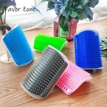 Pet Cat Brush Self Grooming Tool Hair Removal For Cats Massage Shedding Trimming Corner Comb With Catnip Supplies