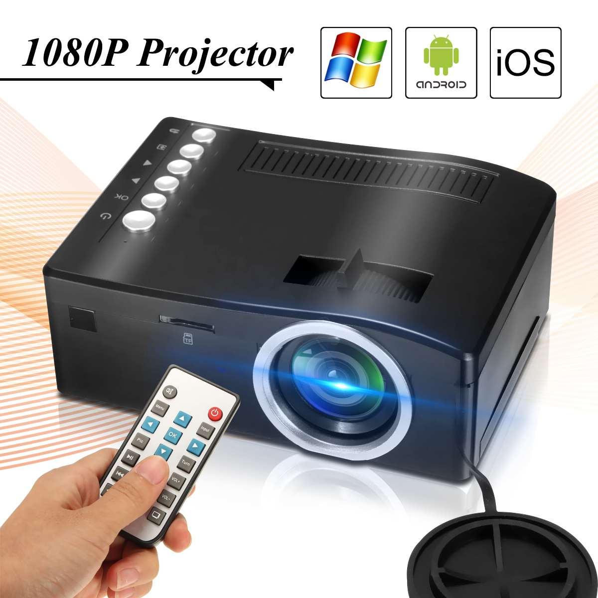 UC18 projektor led Full HD 1080P kino domowe beamer tanie projektor z HDMI AV SD VGA