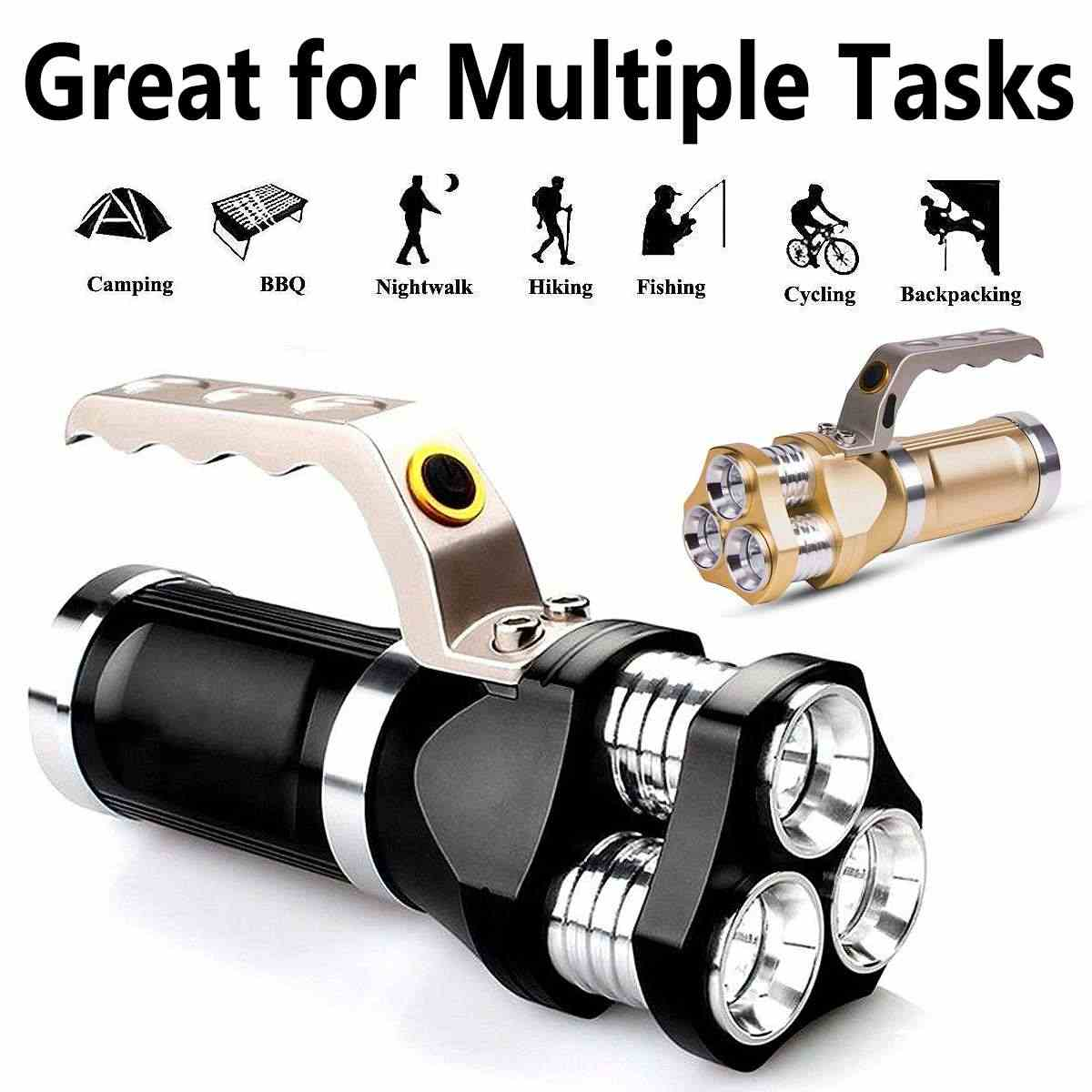 CLAITE LED Flashlight 3000-9000lm 3x T6 Super Bright Lighting 3Modes Easy Operation 18650 LED Spotlight Flashlight Torches Light