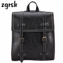 цены на Vintage pu Leather Backpacks Female Travel Shoulder Bag Mochila Women Backpack Preppy Rucksacks Backpack Bags For School  в интернет-магазинах