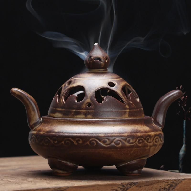 Bâton encensoir Portable en porcelaine porte-encens brûleurs d'encens en céramique support de four d'aromathérapie utilisation dans la maison de thé de bureau à la maison