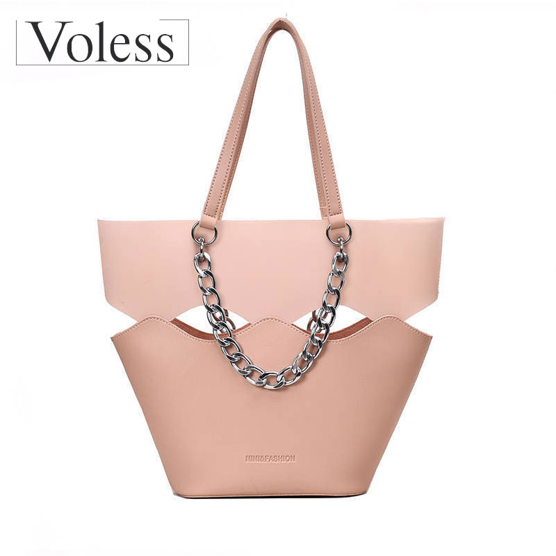 2pcs/set Women Handbag PU Leather Travel Female Messenger Crossbody Bag Ladies Clutch Shoulder Tote Bags Simple Smooth Handbags