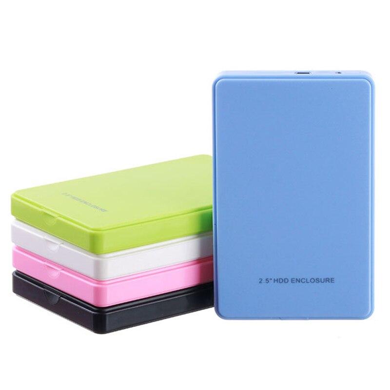 2 5 USB 2 0 SATA HD Box 1TB HDD Hard Drive External Enclosure Case Support