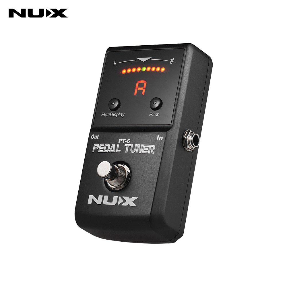 NUX PT-6 Guitar Tuner Pedal Effects Chromatic Auto tuning mode 1/4 Monaural Jack True Bypass LED display Guitar AccessoriesNUX PT-6 Guitar Tuner Pedal Effects Chromatic Auto tuning mode 1/4 Monaural Jack True Bypass LED display Guitar Accessories