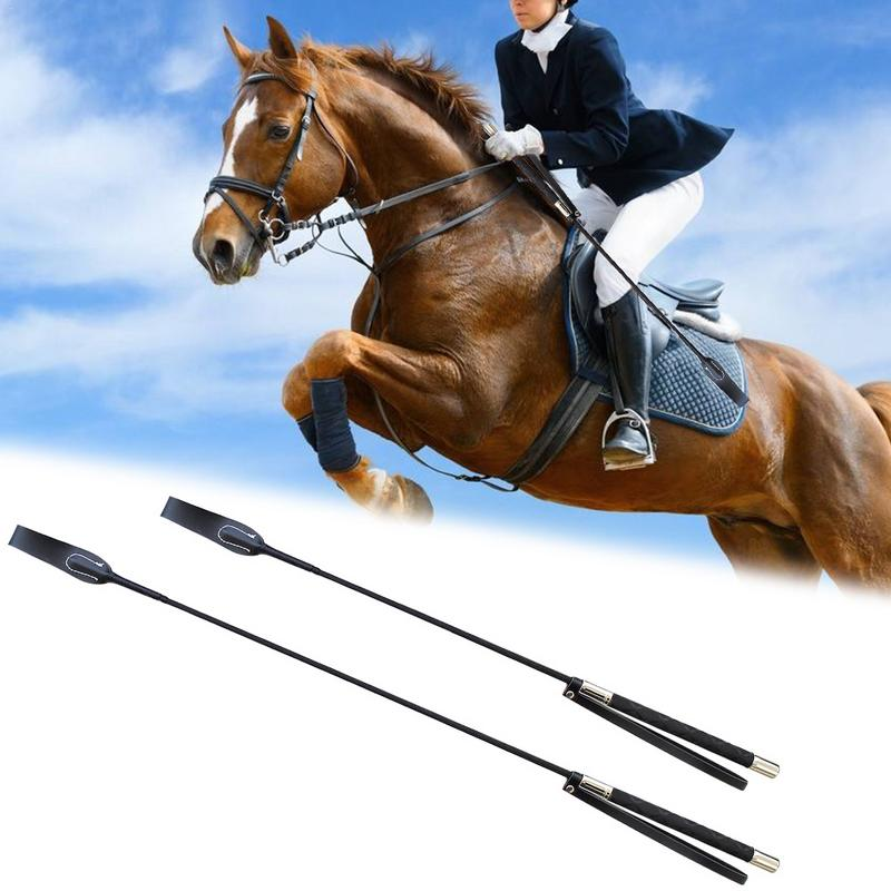 Leather Horsewhips Equestrian Horseback Riding Whips Lash Supplies 51CM/65CM Portable Lightweight More Durable(China)