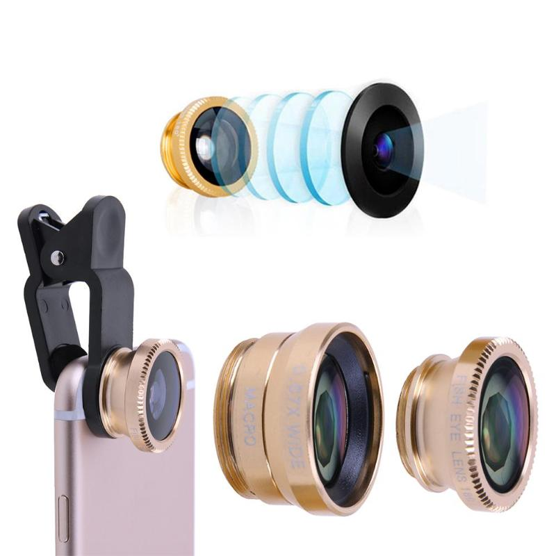 3-in-1 Universal Mobile Phone Camera Lens Kit With Clip For All Smartphones 5