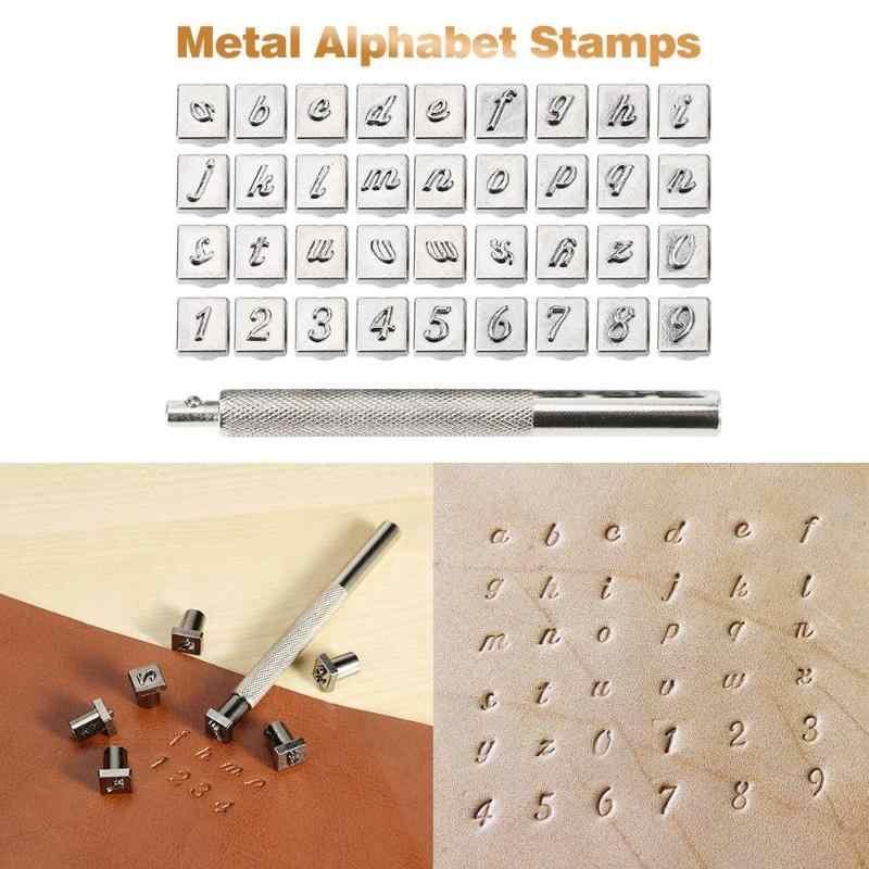 36 Pcs Steel Stamp Letter Number Stamp Punch Set Hardened