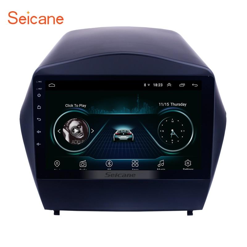 Seicane Android 8.1 9 2din autoradio pour 2009 2010 2011 2012-2015 Hyundai IX35 GPS lecteur multimédia avec Bluetooth WIFI OBD2