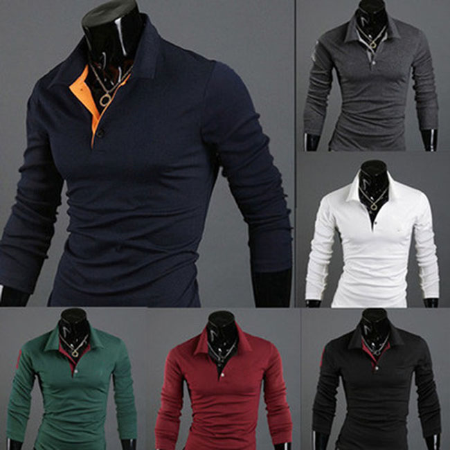 Men Shirts Tee Lapel Long Sleeve Casual Fashion Tops Clothing For Autumn Winter Man Shirts Plus Size XRQ88