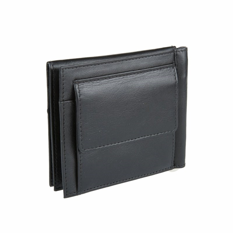 Фото - Money clip Mano 13415 black man clutch wallet card leather bag pockets bifold money clip black blue