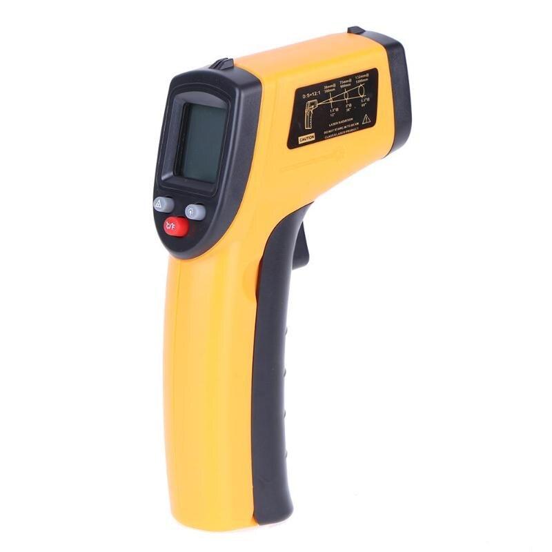 CRISTALLI LIQUIDI Digital di IR Termometro A Infrarossi GM320 Misuratore di Temperatura Pistola del Punto-50 ~ 380 Gradi Senza Contatto Termometro a INFRAROSSI laser Pistola del Punto