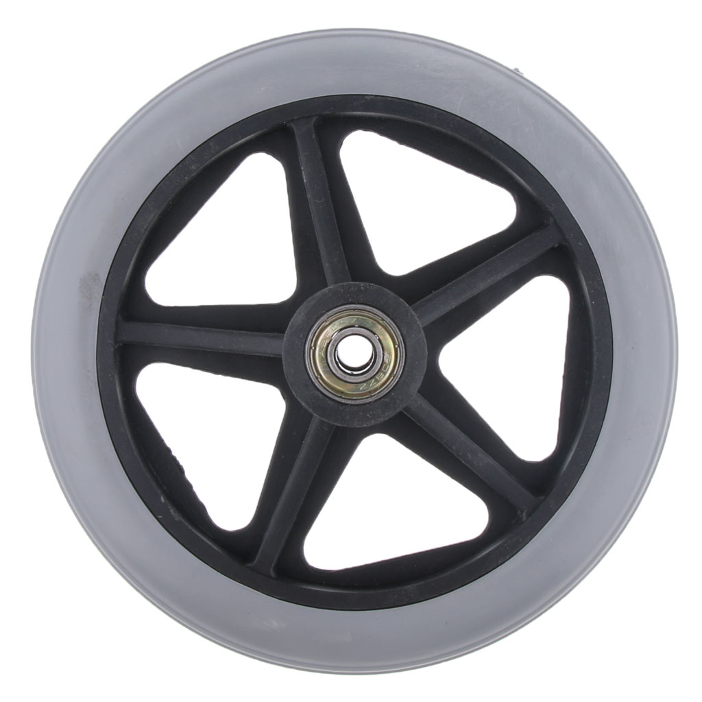 Alloy ABS Wheelchair Front Castor Wheels Replacement Part Tool Gray 6 inch