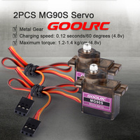 GoolRC Drone A2212 2450KV Brushless Motor w/Mount 40A ESC 2PCS MG90S Servo Set for RC Fixed Wing Airplane Multirotor Aircraft
