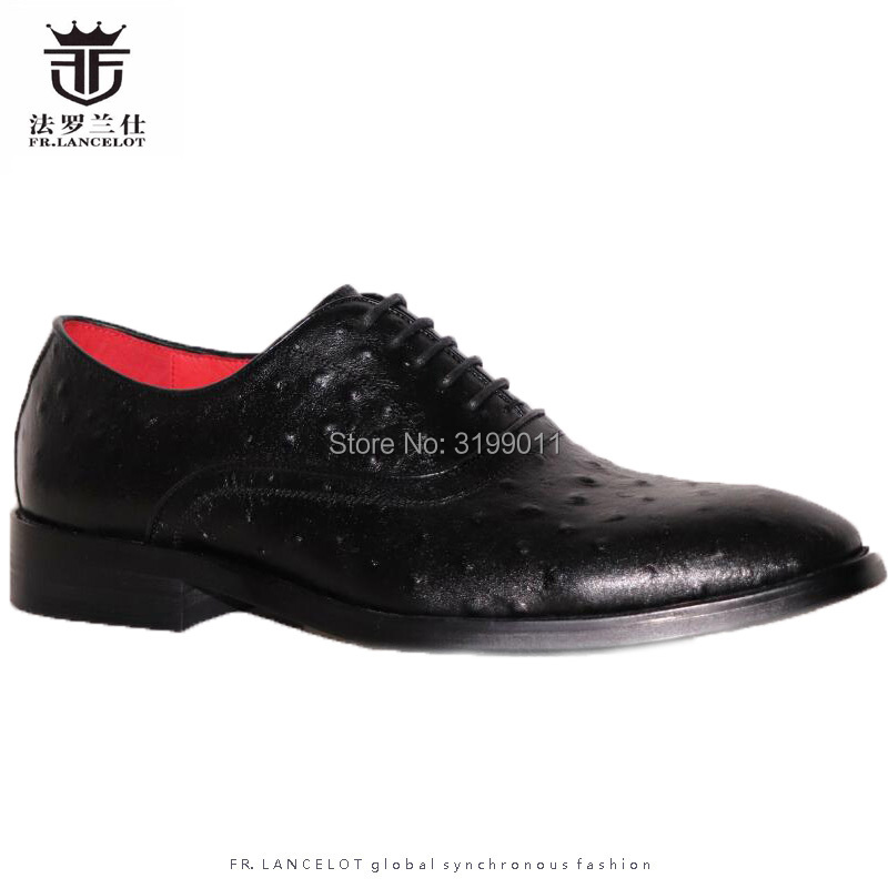 2019 FR.LANCELOT men ostrich pattern Leather Shoes fashion Men Business Leather Shoes Men wedding party shoes point toe flats 2019 FR.LANCELOT men ostrich pattern Leather Shoes fashion Men Business Leather Shoes Men wedding party shoes point toe flats