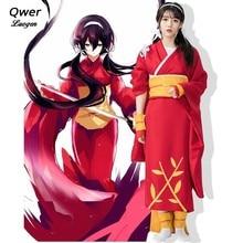 Anime Bungo Stray Dogs Kyoka Izumi Cosplay Costume Women Girls Red kimono School Uniform Suit Cloth anime katekyo hitman reborn cosplay costumes izumi sagiri japan kimono bathrobe