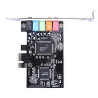 100% brand new PCI Express x1 PCI-E 5.1channels CMI8738 Chipset Audio Digital Sound Card With CD Driver high quality Sound Card