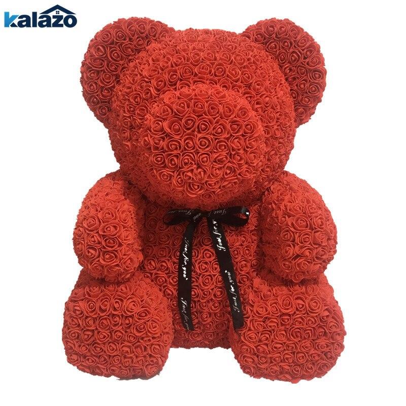 Large 70cm PE Rose Bear Artificial Flower Wedding Birthday Decoration Valentine s Day Romantic Gift Flower