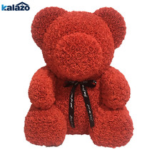 Большой 70 см PE Роза медведь искусственный цветок декор на свадьбу День рождения День Святого Валентина романтический подарок цветок медведи Прямая доставка