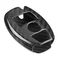 Car Styling Auto Real Carbon Fiber Key Cover Trim Shell Case Fit for Mercedes Benz Accessories
