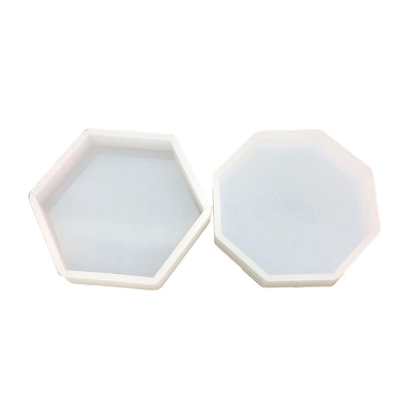 Nordic Geometric DIY Crystal Epoxy Mold Octagonal Set High Mirror Gypsum Aromatherapy Car Decoration Expansion Stone