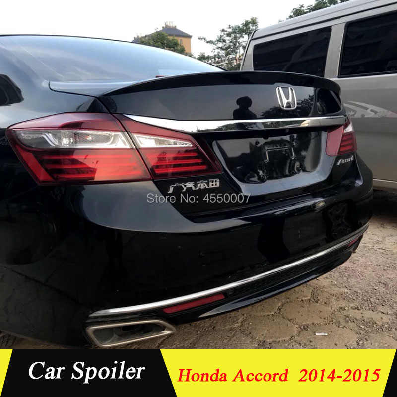 Spoiler for honda accord 9th 2014 2015 2016 high quality abs plastic car tail wing decoration for accord spoilers