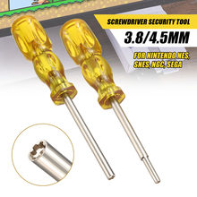 3.8mm+4.5mm 2Pcs Yellow Screwdriver Sleeve Set Bit Screwdriver For Nintendo/NES/SNES/NGC/SEGA(China)
