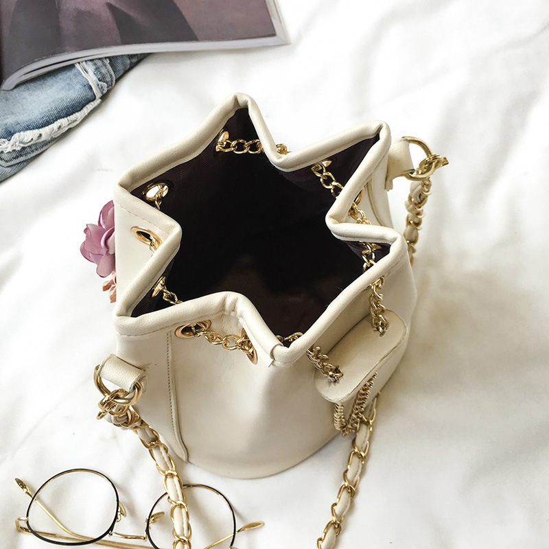 2019 Lady Flower Crossbody Bags For Women PU Leather Handbags Female Shoulder Bag Women Messenger Bags Ladies Hand Bags Sac Tote in Top Handle Bags from Luggage Bags