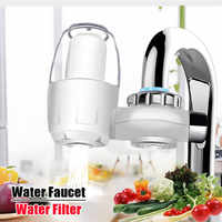 Grifos de agua de cocina Filtro lavable grifos de cerámica montaje grifo purificador de agua Filtro de eliminación de bacterias oxidadas w/Filtro de reemplazo