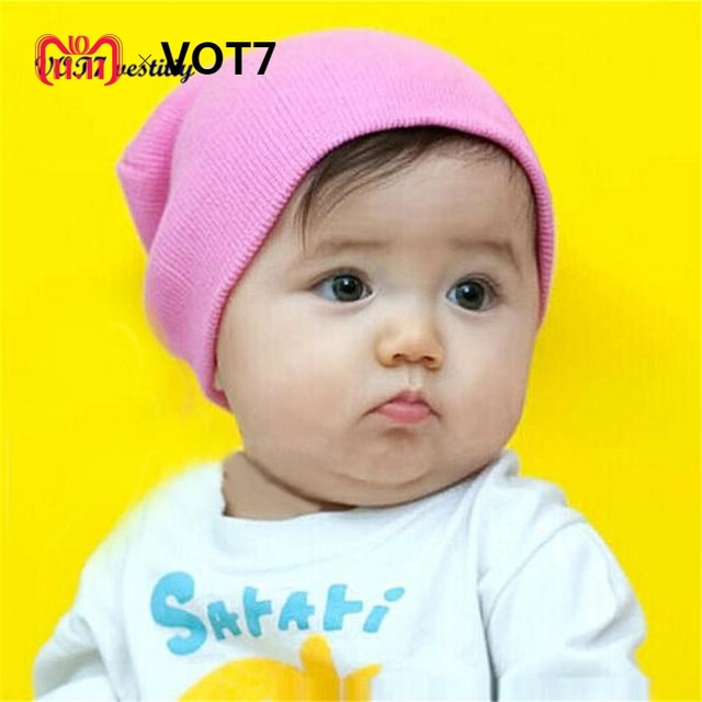Festival best gift VOT7 vestitiy 16cmX18cm Baby Beanie Boy Girls Soft Hat  Children Winter Warm Kids 65de1a454fa