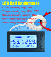 DC 300V 200A Battery Monitor Combo Meter Digital Hall Sensor coulombmeter VOLT Ammeter Voltage Current Capacity Energy Power