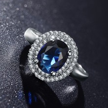 hot deal buy anfasni hot sale blue stone princess rings enegant bride finger rings for women anillos wedding bands statement jewelry