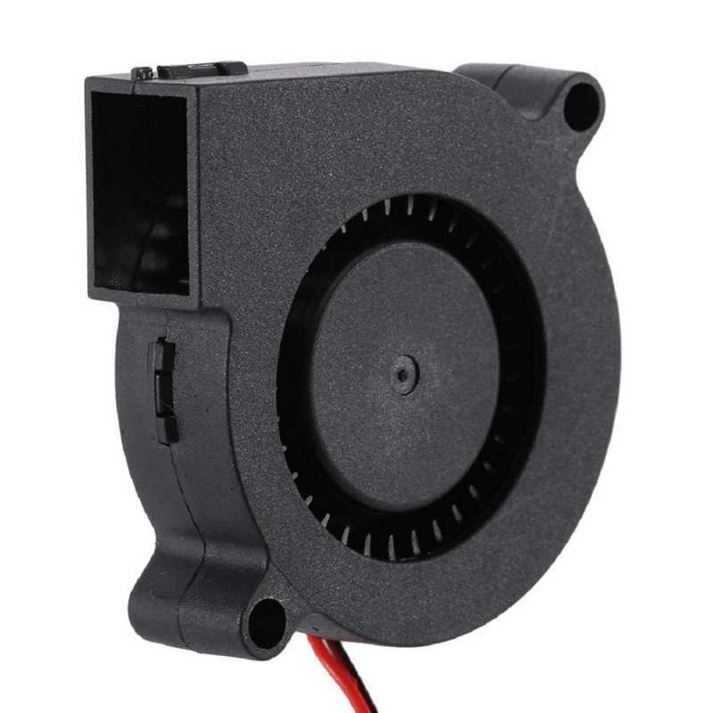 Anet A6 A8 DC Koelventilator 5015 Turbo fan 12V 24V Ultra-stille Olie Lager Turbo Kleine ventilator Voor 3D Printer