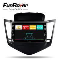 Funrover Восьмиядерный автомобильный Радио мультимедийный стерео плеер 2 din android 8,1 для Chevrolet Cruze 2009 2013 автомобильный gps навигация DSP LTE