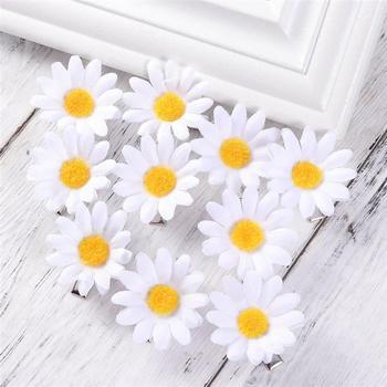 10pcs Daisy Hair Clips Cute Flower Shape Hair Pins Hair Barrettes Decorative Hair Clips Hair Styling Accessories for Women Girls