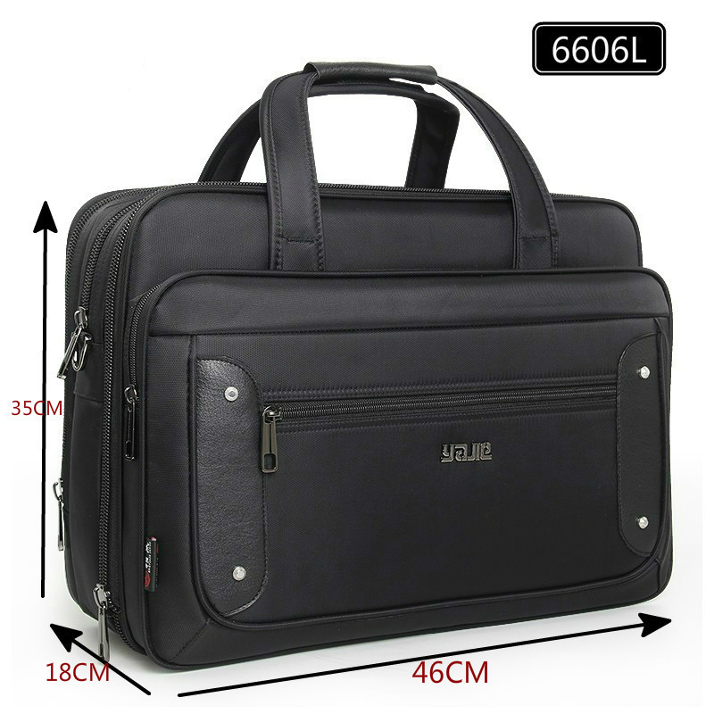 Image 3 - Large Capacity Business Men 17 Inches Briefcases Black Bags Men's Waterproof Computer Laptop Briefcase Male Travel Shoulder Bag-in Briefcases from Luggage & Bags