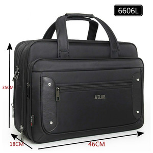 Image 3 - Large Capacity Business Men 17 Inches Briefcases Black Bags Mens Waterproof Computer Laptop Briefcase Male Travel Shoulder Bag