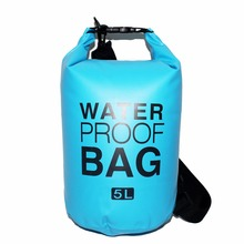 2L/5L PVC Swimming Waterproof Ocean Pack Dry Bag Pouch Impermeable Swim Pool Water Proof Bag Rafting 9 Colors 12l inflatable pvc hermetic dry waterproof bag pouch ocean pack for swimming water proof bag impermeable backpack swim buoy