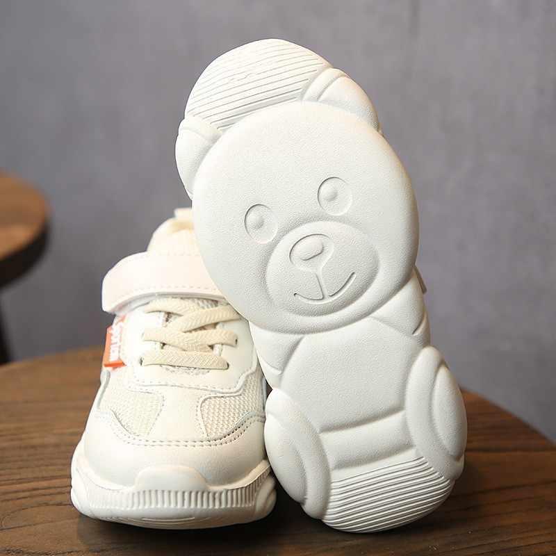 CNFSNJ מותג מכירה לוהטת 2018 אביב סתיו בני בנות דוב בלעדי נעלי ילדי עור ספורט ריצה נעלי ילדים סניקרס 26- 36