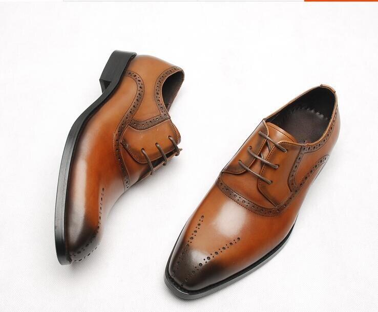 Trajes Moda Italiano Otoño Retro Zapatos 2 Cuero 1 Esmoquin Vestido zd8xqwU18