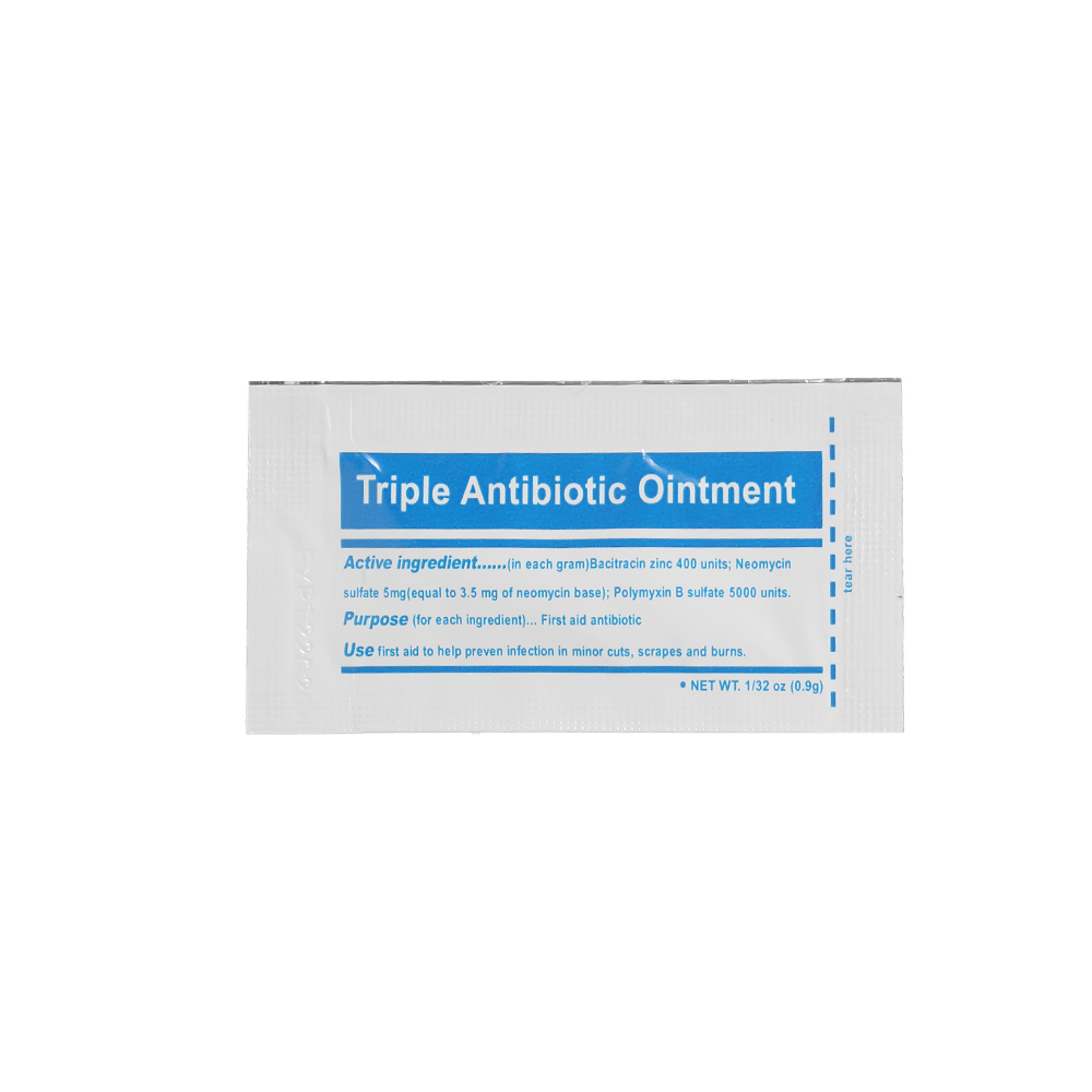 Carevas 10PCS Triple Antibiotic Ointment 0.9gram/Packet First Aid Kit