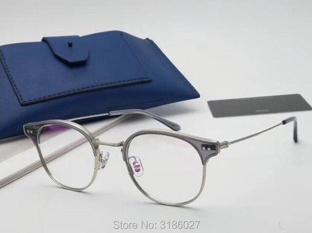 Gentle Brand Designer Retro Fashion Glasses Metal Acetate Frame  4